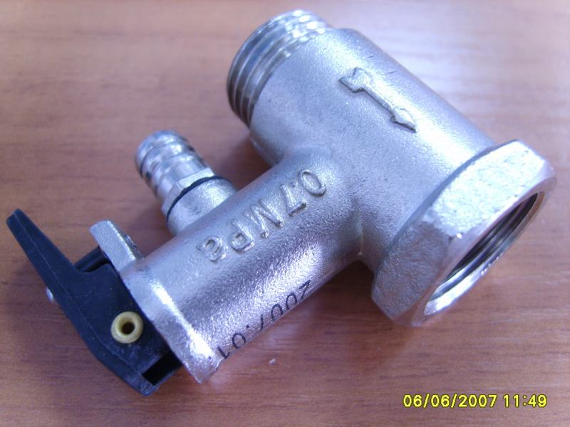Клапан сброса давления водонагревателя